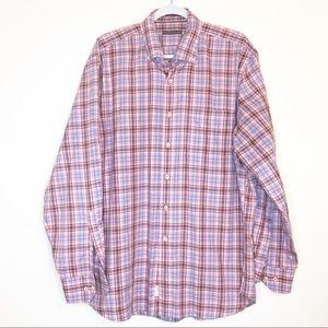 Peter Millar windowpane long sleeve shirt XL
